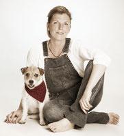 Stephanie Löer und Hund Luzie