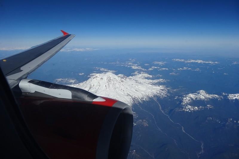 Mount Rainier - 2013 im Regen noch nicht mal die Konturen gesehen