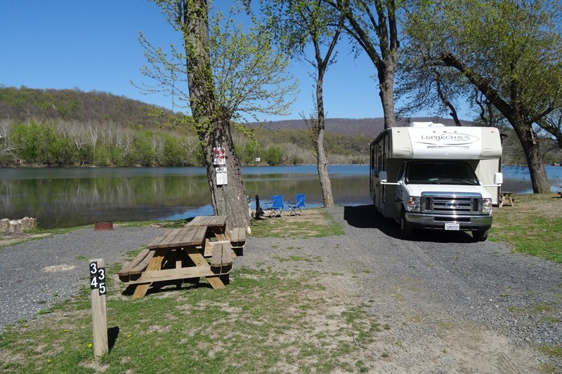 Harpers Ferry Campground, Harpers Ferry, WV, Site 35
