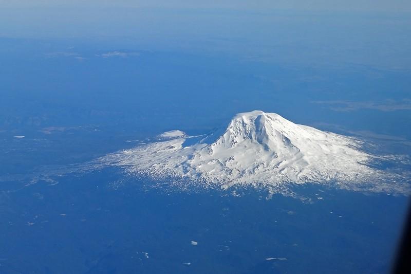 Mount Adams hatten wir im Rückspiegel auf der Fahrt zum Mount Hood