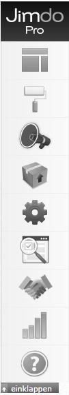 Jimdo Homepage Baukasten: Task-Leiste