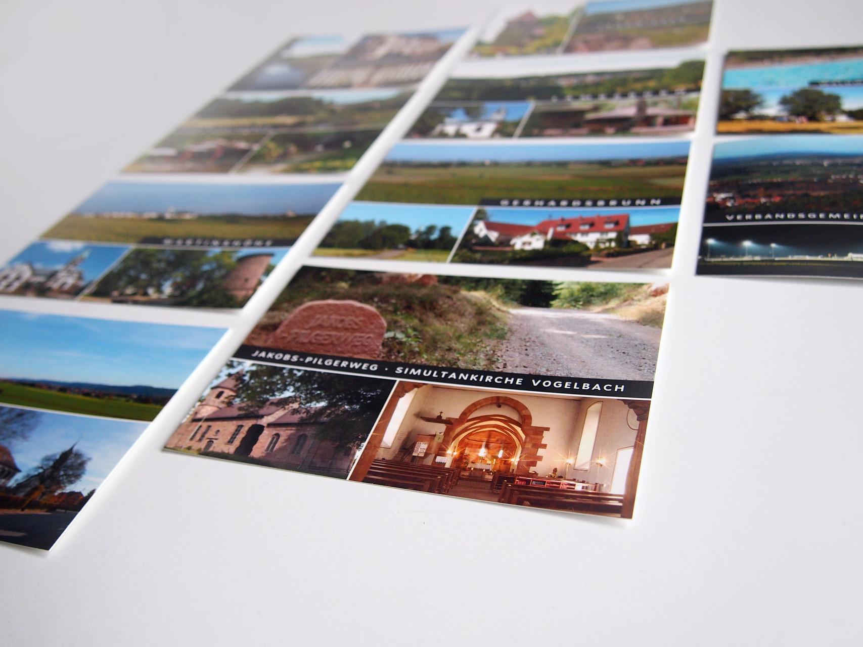 Postkartenserie für eine Verbandsgemeinde