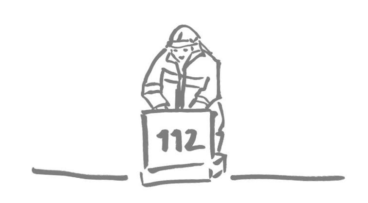 Illustration zum Thema Feuerwehr/Rettungsdienst