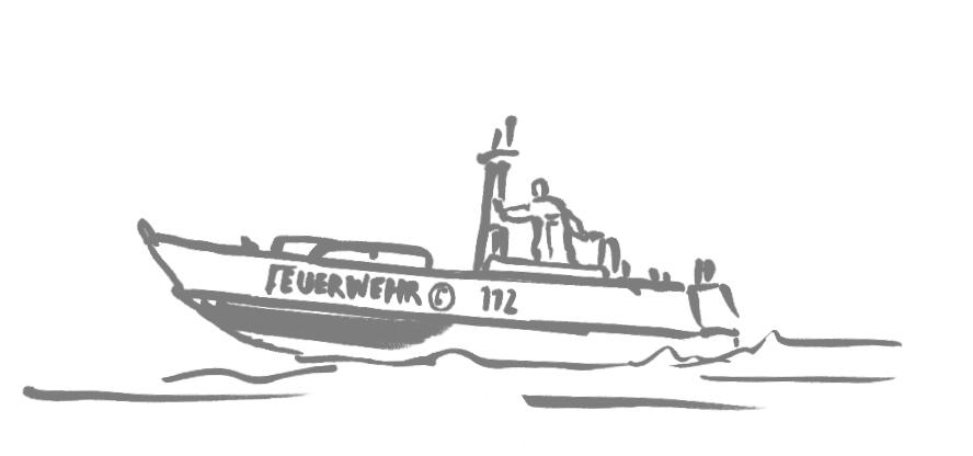 Illustration zum Thema Feuerwehr/Wasserrettung