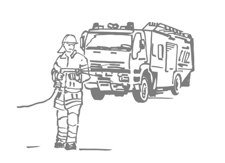 Illustration zum Thema Feuerwehr