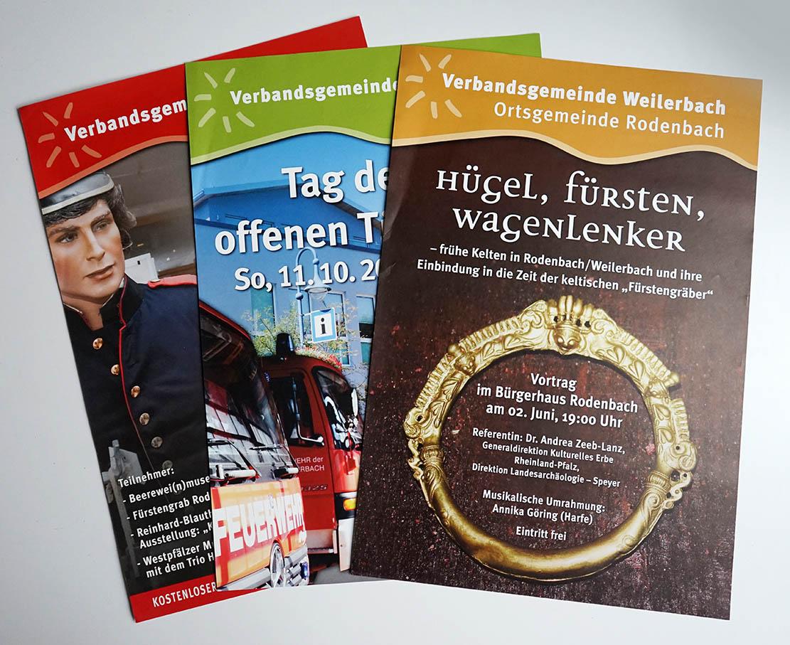 CI Verbandsgemeinde: Gestaltungslinie Plakate