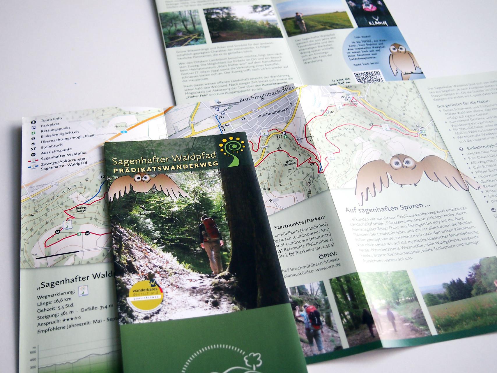 Broschüre Wanderweg incl. Illustrationen
