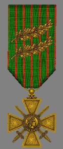 Croix de guerre 14/18 à deux palmes