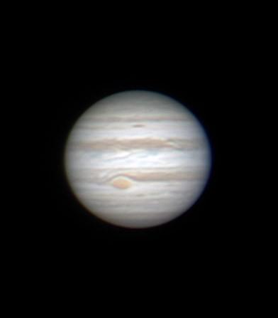 Jupiter mit oben beschriebenem Setup im Februar 2015 aufgenommen
