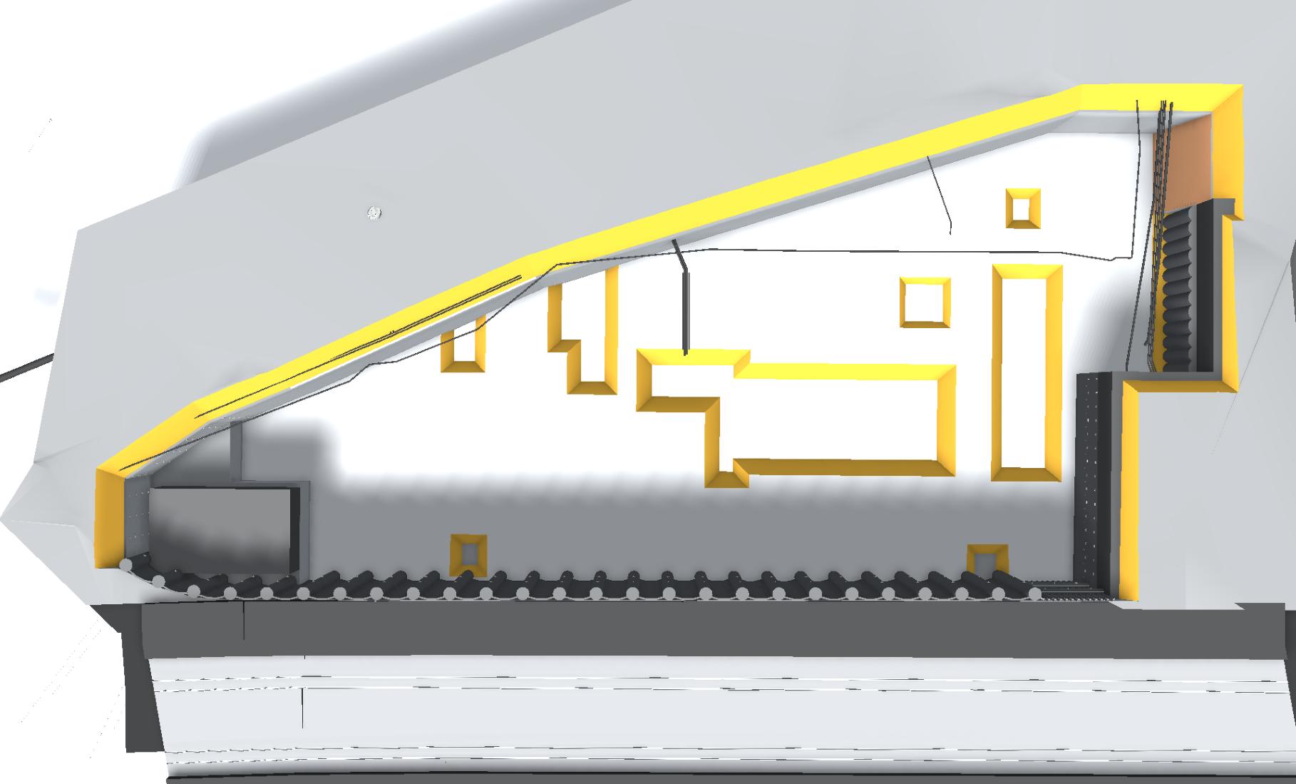 3D-Ansicht Baugrubensicherung