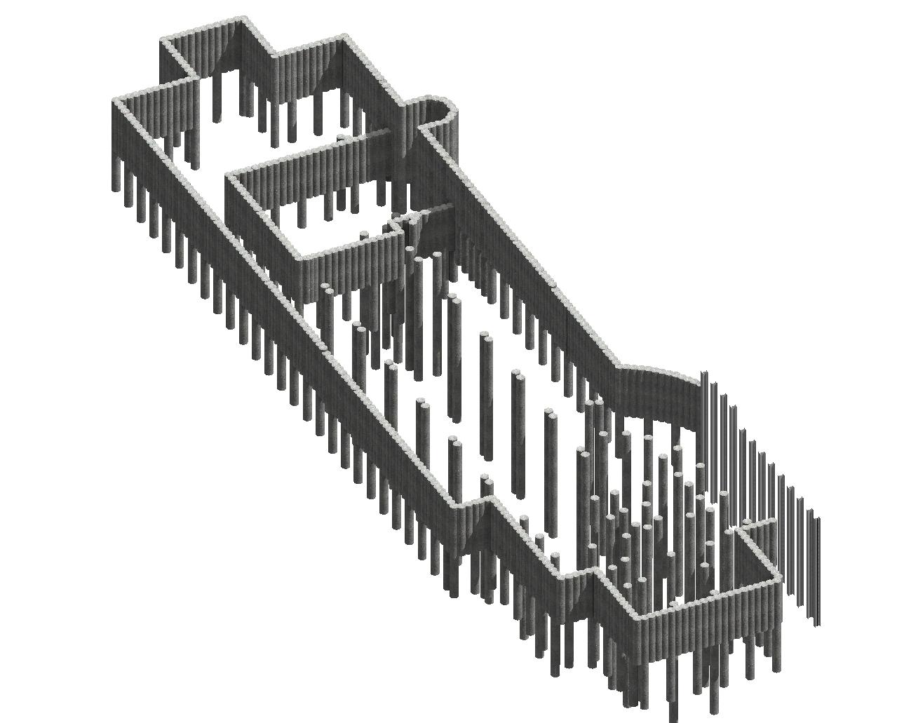 BIM-Modell Baugrubensicherung und Gründung