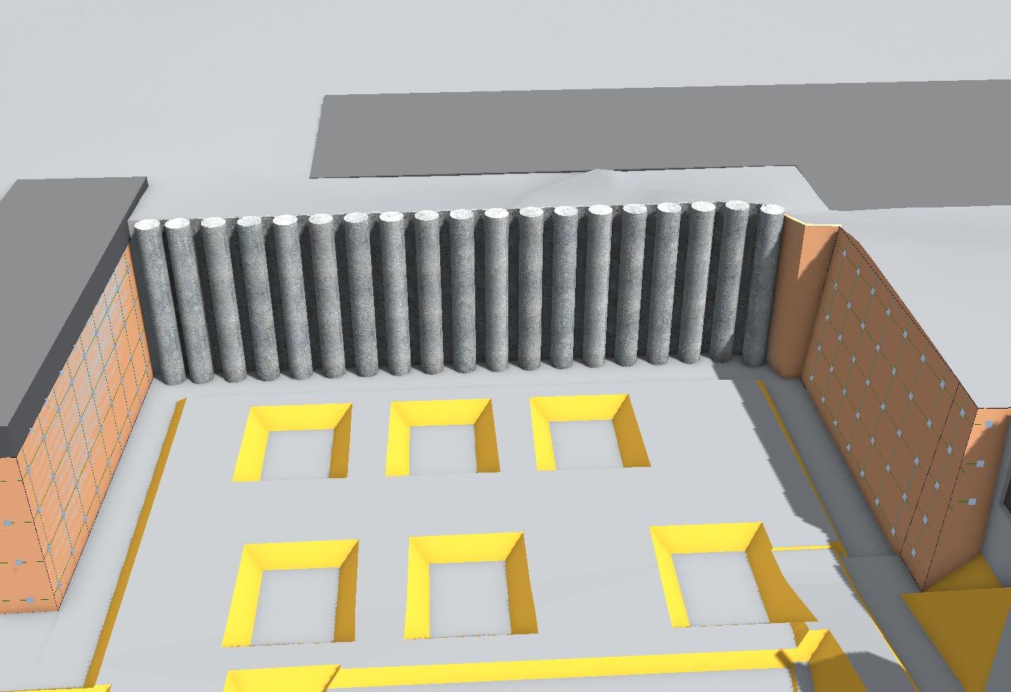 Geotechnisches-Bauwerks-Modell - Bohrpfahlwand