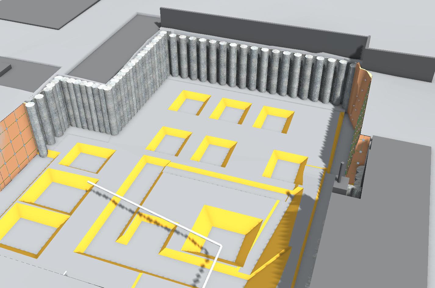 3D-Modell Baugrube