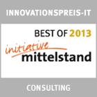 Das Contor-Regio Standortanalyse-Tool wurde 2013 mit dem Best-Of-Preis der Initiative Mittelstand im Bereich Consulting ausgezeichnet.