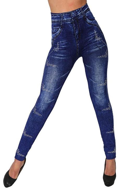 jeans print legging, skinny, denim, jegging blauw
