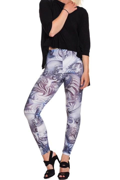 bloemen/patroon print legging balizza/purim, geometrische, bloemen patroon