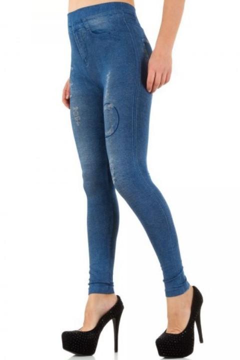 jeans print legging italiaans design
