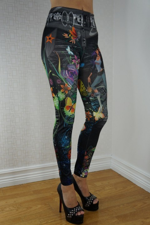 print design legging parsana, blue hot