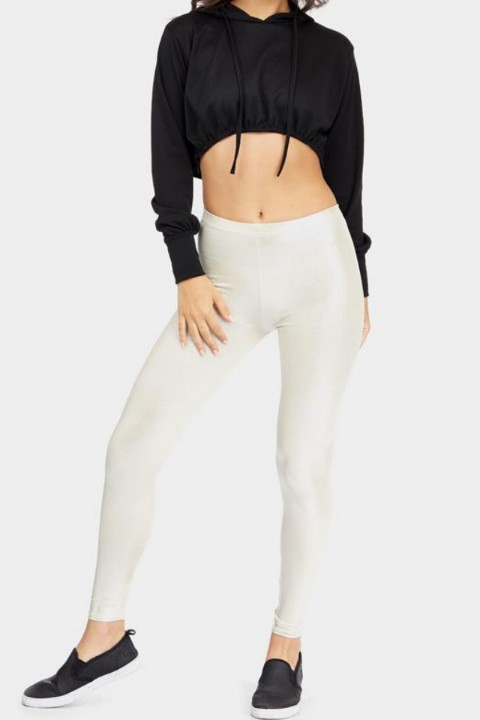 metallic legging sexy goud