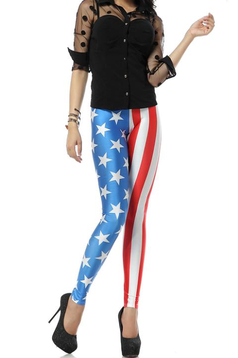 vlaggen print legging frankrijk