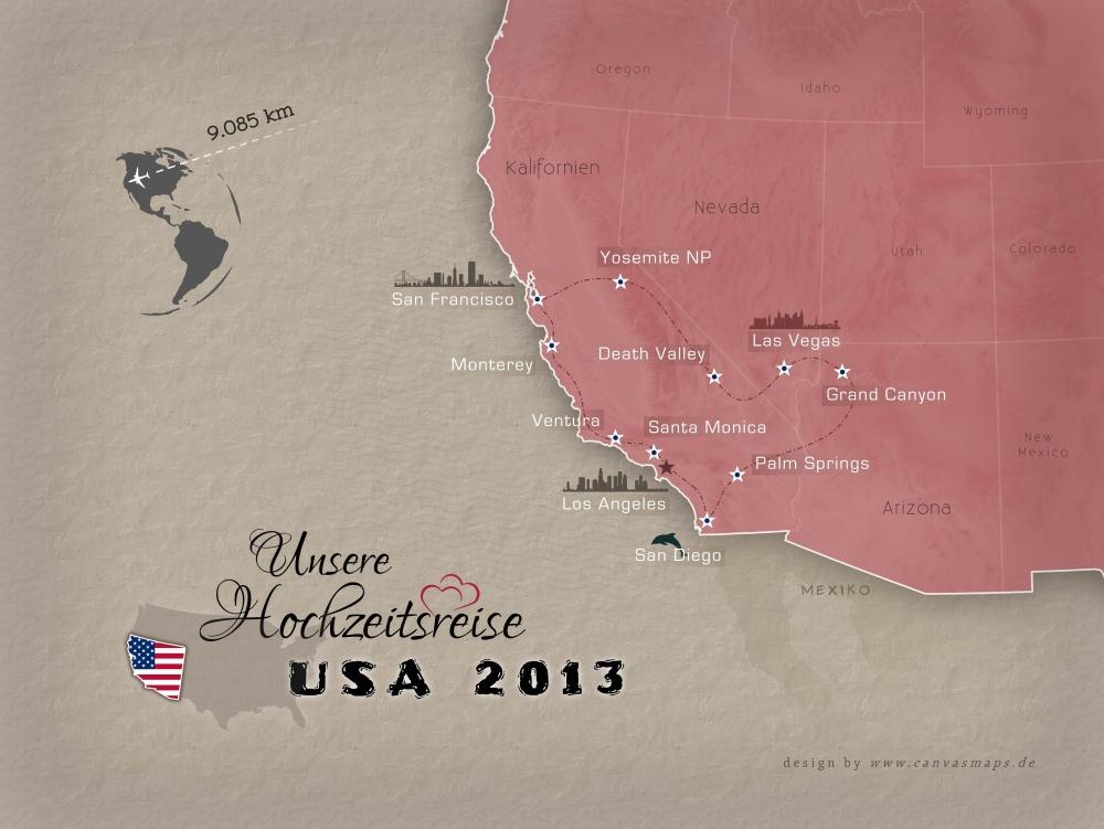 Hochzeitsreise in den USA