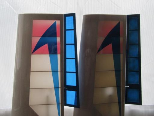 逆光時の、ノーマル色版とシルバーグレー塗装版の見え方の違い。