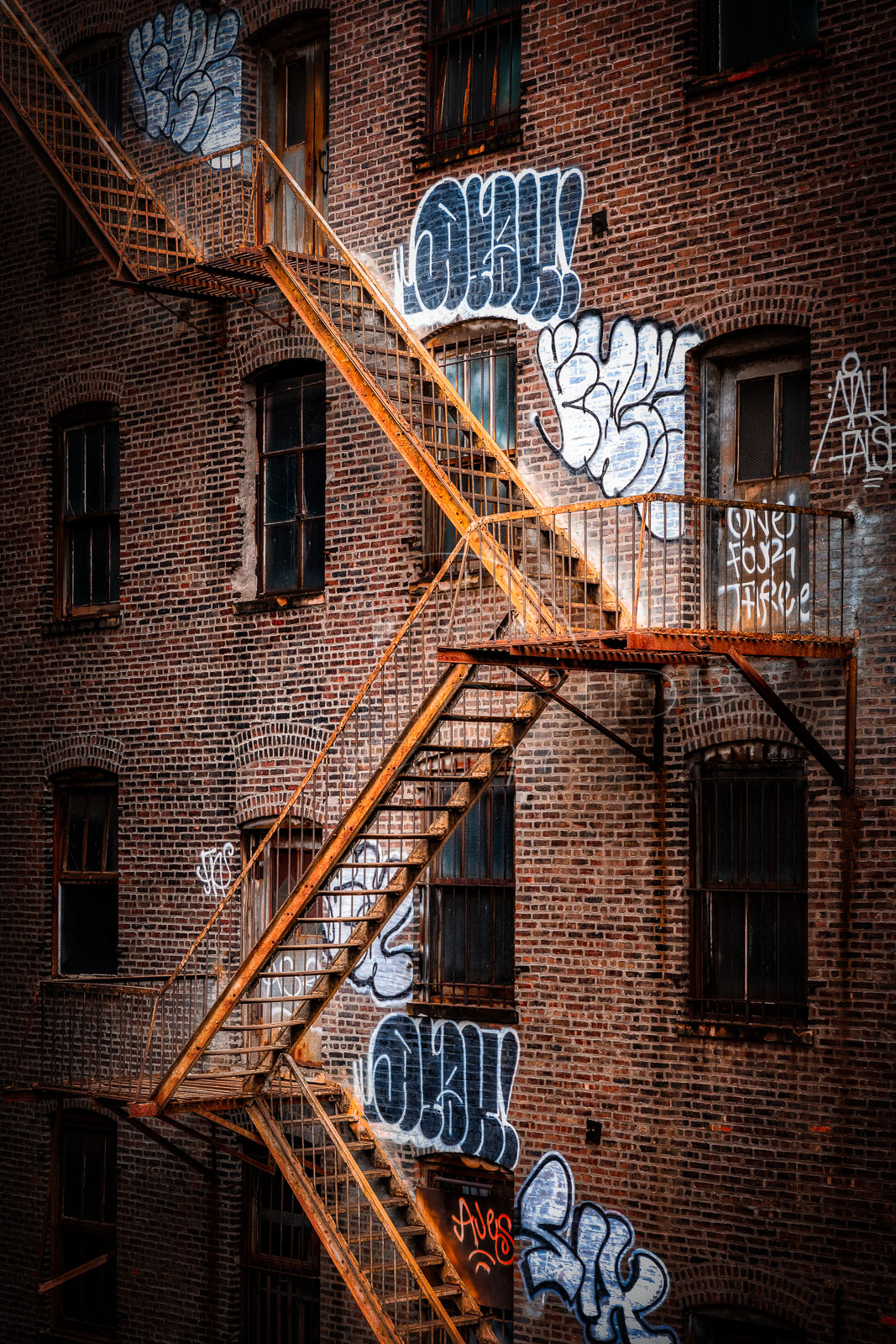 Stairway to Heaven | Rusty fire escapes | New York City