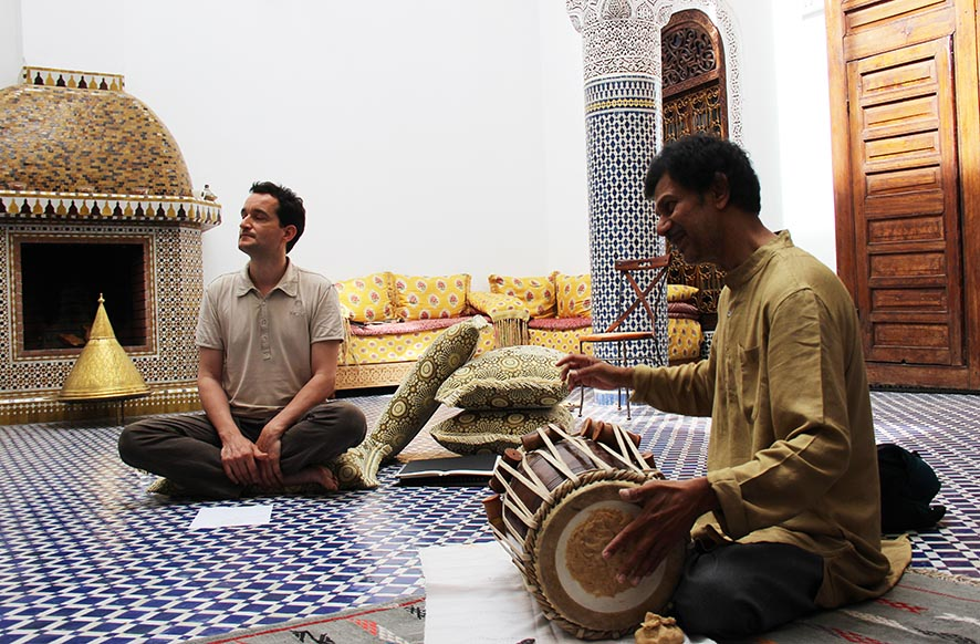 Samuel Cattiau, Sanjay Agle - Ganges beloved - Fes Festival © Edith Nicol for ECHO
