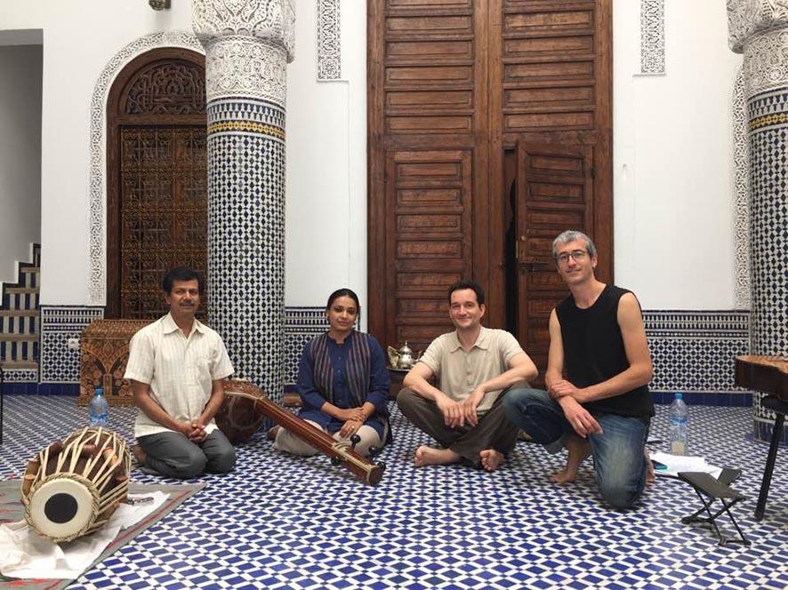 Sanjay Agle, Pelva Naïk, Samuel Cattiau, Quentin Dujardin - Ganges beloved - Fes Festival © L. Védrine