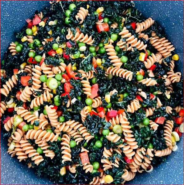 Schwarzkohl / Linsen Pasta Salat - Black Cabbage / Lentil Pasta Salad