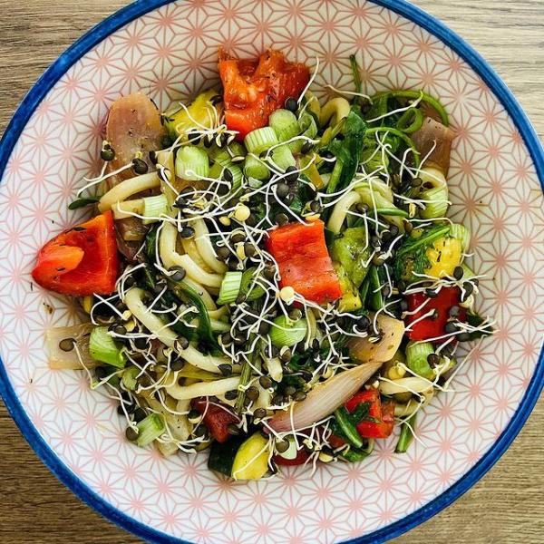 Udon mit mediterranem Gemüse - Udon with Mediterranean vegetables