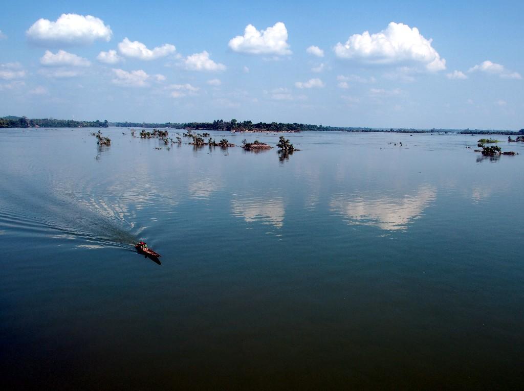 ... während im Süden von Done Khon der Mekong zu einem See wird.