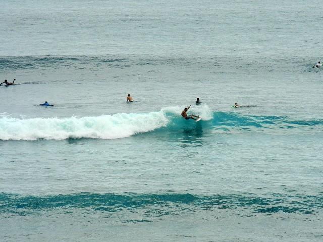 ... und ein toller Viewpoint um Surfer zu beobachten