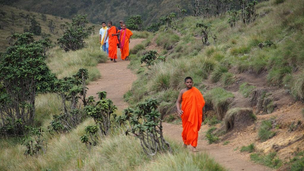 Ausflug - Mönche sorgen für Farbenspiel im Grün des Horton Plain Nationalparkes