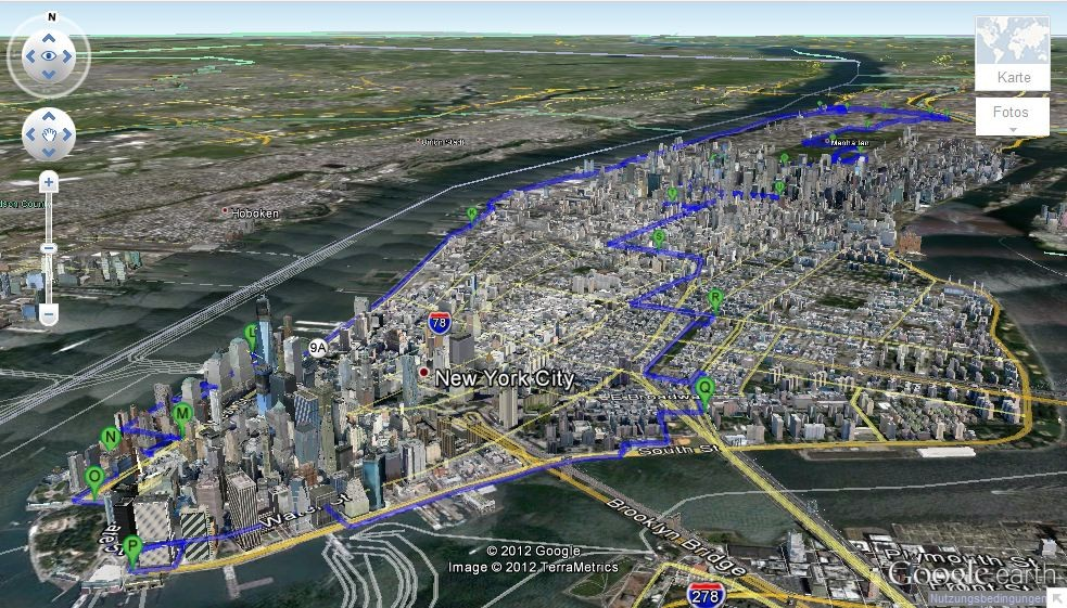 Fahrradtour in New York in 3D