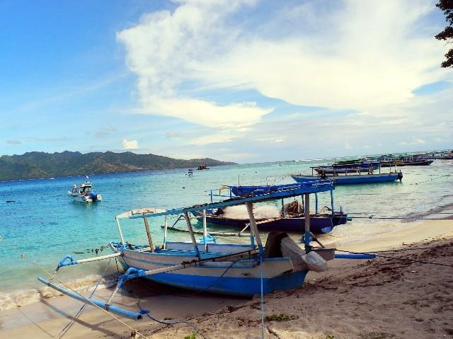 Traumhaft - Ausblick von Gili Air nach Lombok