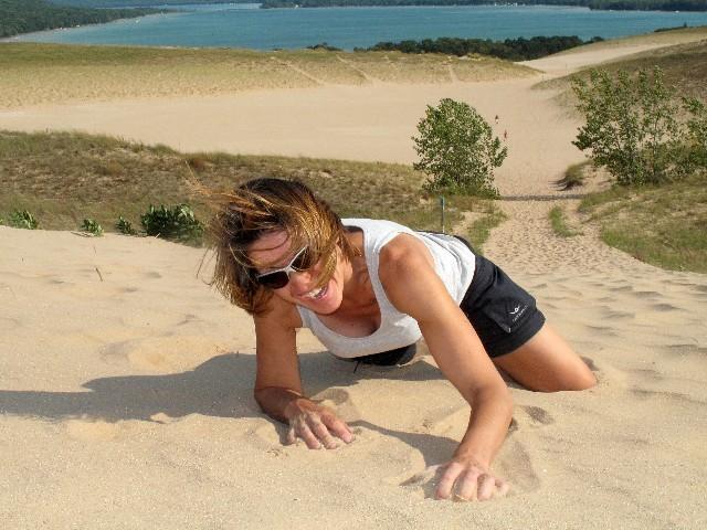 Geschafft - Dünen bis zu 140 m Höhe