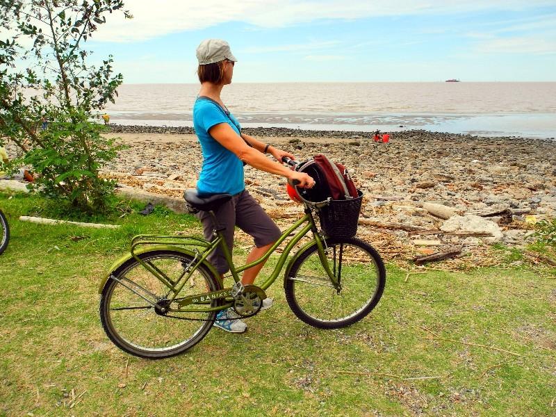 Fahrradtour - Blick auf den Rio de la Plata