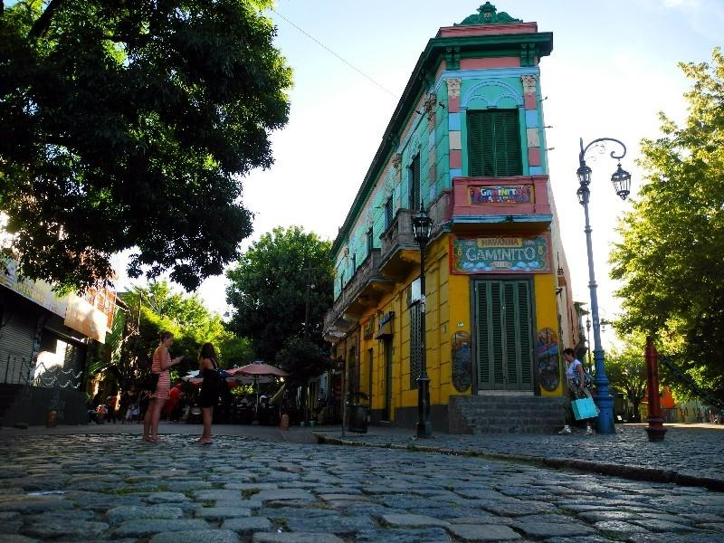 Das Szeneviertel La Caminito für Touristen...