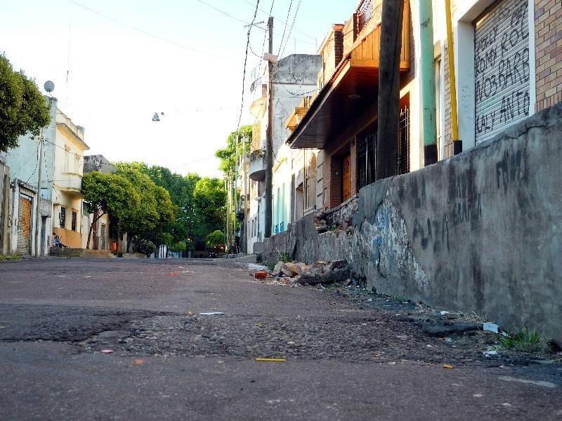 Licht und Schatten - In La Boca neben dem Szeneviertel La Caminito...