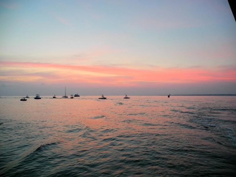 ...und einen wunderbaren Sonnenuntergang