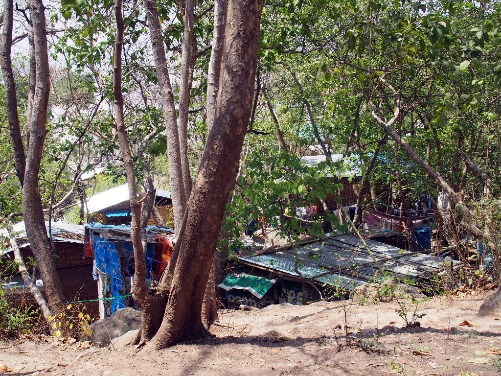 Slum am Fuße des Mandalayhills