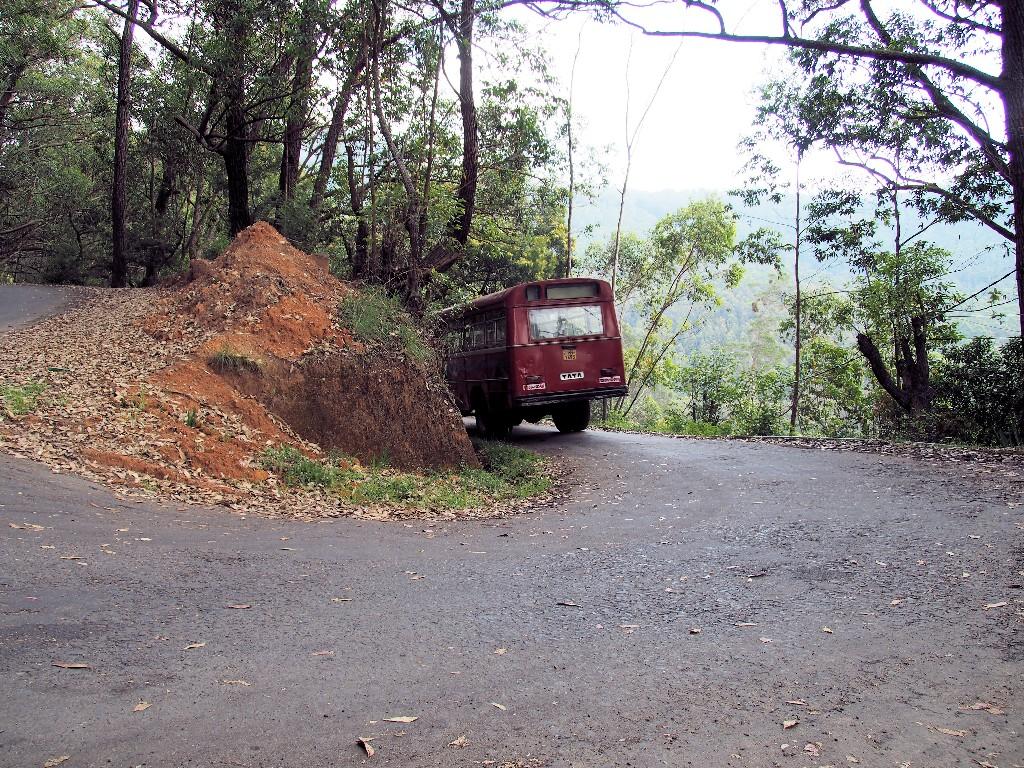 Selbst die engen Kurven zum Horton Plains Nationalpark sind für die Sri Lanka Busse nicht zu eng