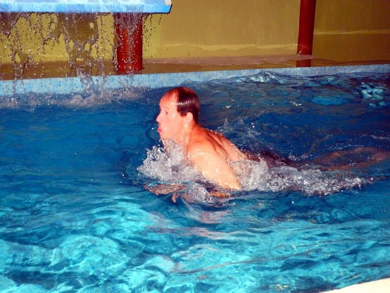 ...sondern uns auch im Swimming Pool vergnügen