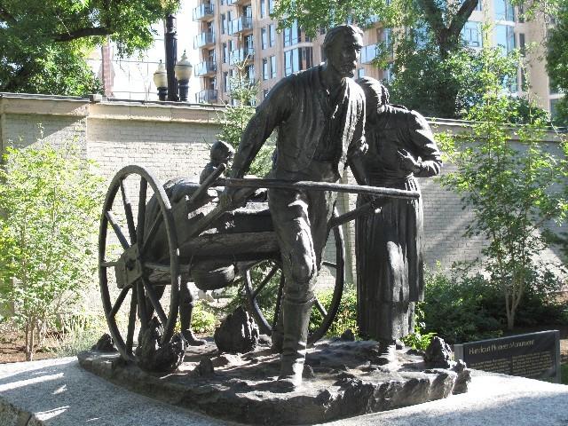Tapfer - Denkmal eines mormonischen Siedlers in Salt Lake City