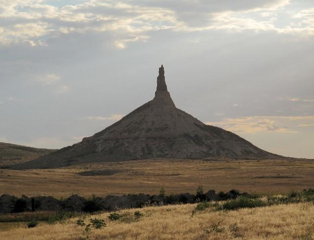 Nicht zu verfehlen -  Chimneys Rock bei Scottsbluff in Nebraska