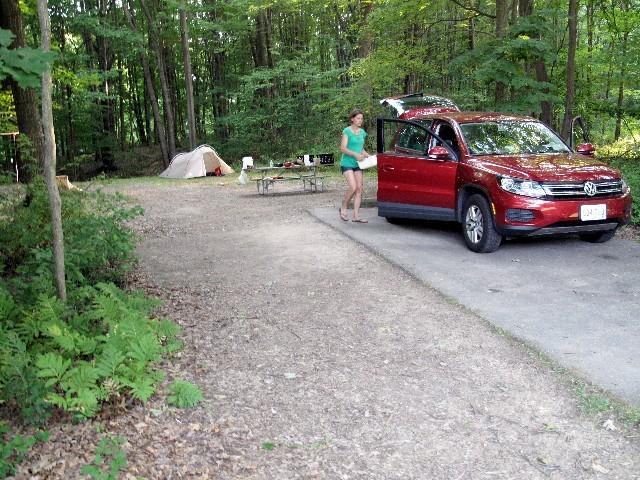Viel Platz - Camping im Wildwood State Park