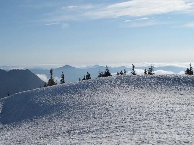 Winterlich - Schneefelder am Skyline Trail an der Südflanke des Mount Rainiers