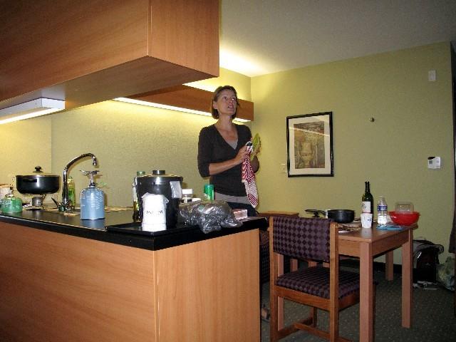 Kochen in der Suite - Gemütlicher Abend in Elma beim Olympiaviewing