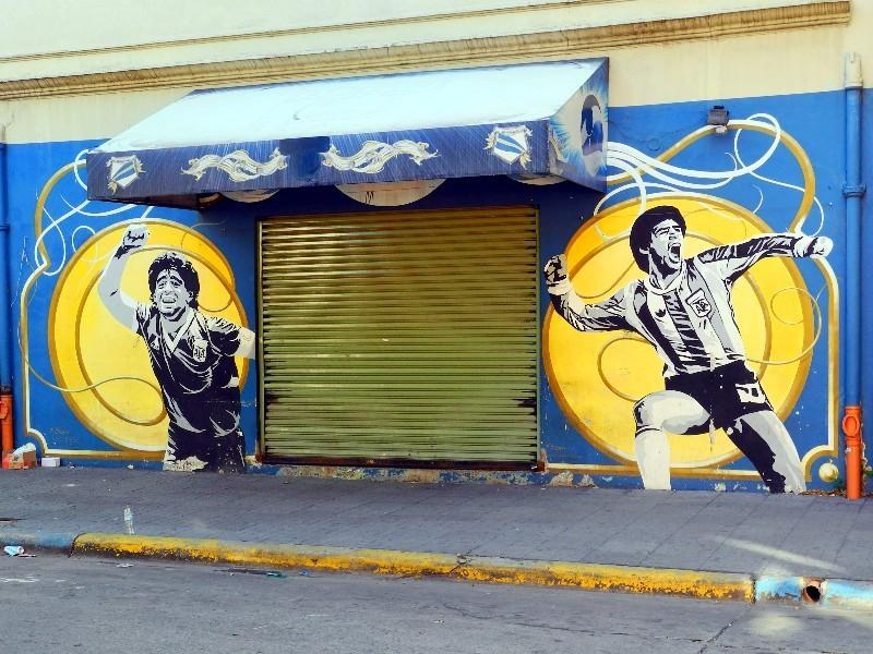 ...gelb und blau sind die Farben vom Club Atletico Boca Juniors...